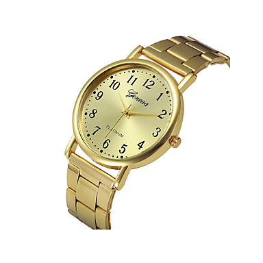 cheap Women's Watches-Women's Gold Large Dial Analog Minimalist - Gold One Year Battery Life / SSUO LR626