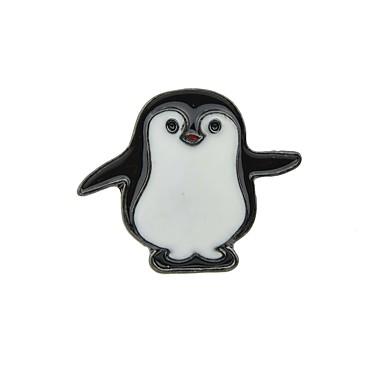 voordelige Dames Sieraden-Dames Broches Nieuwigheid Vakantie Pinguïn Dames Standaard Modieus Broche Sieraden Zwart Voor Dagelijks Afspraakje