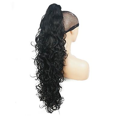 voordelige Haar Stukken-Klem In / Op Wig Accessories Bear Claw / Jaw Clip Haar met highlights / balayage Synthetisch haar Haar stuk Haarextensies Recht 76.2 cm