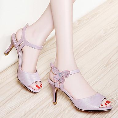 Blanc Escarpin Eté Talon Soirée Basique Sandales Chaussures Rose 06608135 Cuir Aiguille Femme Gladiateur amp; Automne Evénement Verni xqP4BzYt