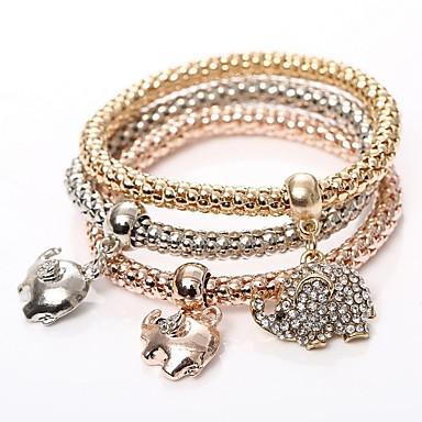 c3f53583a 3ks Dámské Náramky s přívěšky Korálkový náramek Sladký Náramky Šperky  Duhová Pro Párty Dar