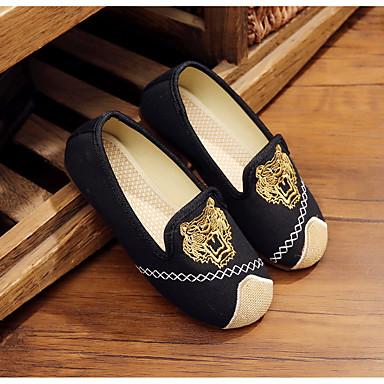 ieftine Pantofi de Copii-Băieți Pantofi Pânză Primăvară Confortabili Mocasini & Balerini pentru Negru / Bej / Albastru