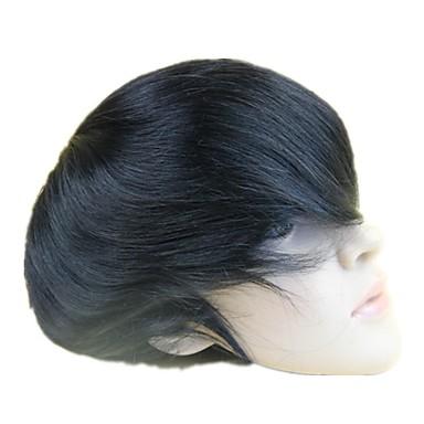 povoljno Perike i ekstenzije-Muškarci Remy kosa Tupe Full Lace 100% rađeno rukom