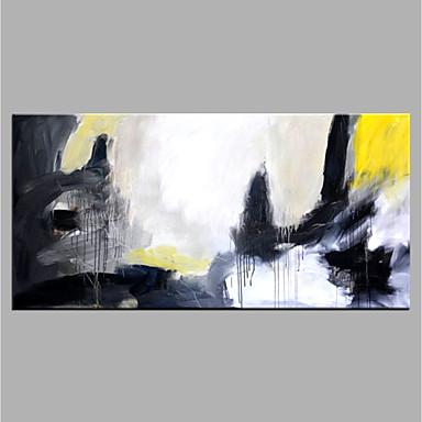 Hang-Malowane obraz olejny Ręcznie malowane - Abstrakcja Nowoczesny Brezentowy / Zwijane płótno