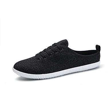 Herre sko Tekstil Vår Høst Komfort En pedal Gange Kombinasjon til Avslappet Hvit Svart Beige