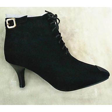 Nubuck 06627681 Botillons Bottes Cuir Femme Botte Aiguille Noir Demi Chaussures Talon Bottine Hiver Confort Automne EYTxZSwq