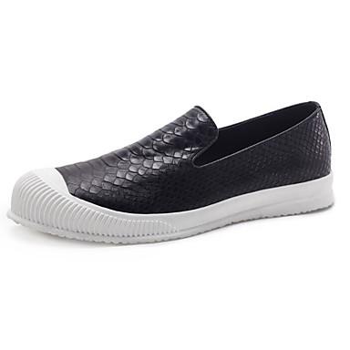 Męskie Komfortowe buty Skóra nappa / Skóra bydlęca Wiosna / Jesień Mokasyny i buty wsuwane Czarny