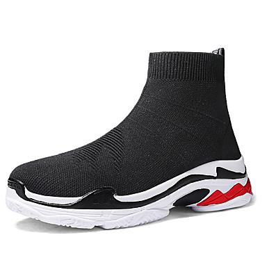 Unisex Pantofi Material elastic Toamna iarna Confortabili Adidași de Atletism Alergare Toc Drept Negru / Negru / Roșu