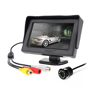 voordelige Automatisch Electronica-ziqiao 4.3 inch monitor en 8led ccd hd auto achteruitrijcamera