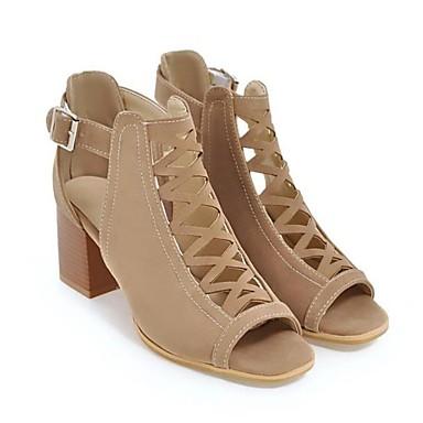 Beige Confort Talon Cuir Chaussures Bottier Vert Boucle 06627036 Nubuck Noir Eté ouvert Bout Femme Sandales n47qZx