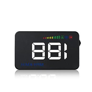voordelige Automatisch Electronica-A500 3,5 inch LED Head Up Display LED-indicator Aanpassing van de helderheid Multifunctioneel display LCD-scherm Plug & play voor Truck