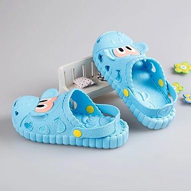 baratos Sapatos de Criança-Para Meninos PVC Chinelos e flip-flops Little Kids (4-7 anos) Solados com Luzes Botão Rosa claro / Azul Claro Verão / TR