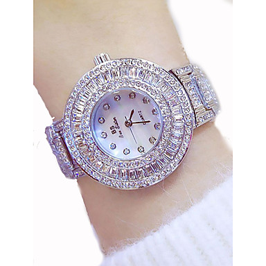 Women's Luxury Watches Dress Watch Diamond Watch Japanese Quartz Stainless Steel Gold 50 m Chronograph Luminous Large Dial Analog Ladies Luxury Sparkle ...