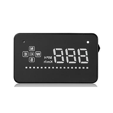 A2 3.5 in LED Wskaźnik LED / Podłącz i graj / Wyświetlacz wielofunkcyjny na Samochód / Autobus / Ciężarówka Zmierz prędkość jazdy / Prędkość jazdy / Wyświetlacz KM / h MPH
