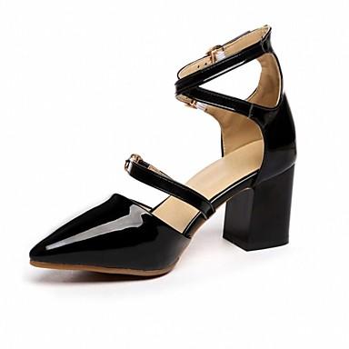 à Bout Boucle Automne Chaussures 06641898 Talon Femme Confort Noir Talons Similicuir Nouveauté Bottier Chaussures Printemps Blanc pointu P0n1pOW