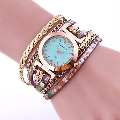 baratos Relógios Senhora-Mulheres Relógio Esportivo Colar com Relógio envoltório relógio Quartzo Aço Inoxidável Preta / Branco / Vermelho Relógio Casual Adorável Analógico senhoras Casual Fashion - Vermelho Azul Rosa claro