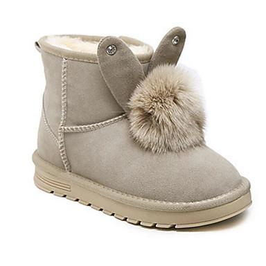 06623911 Demi Bottine Bottes Confort Femme Bas de Bottes Botte Chaussures Fourrure Hiver neige Noir Talon Amande wv01Z
