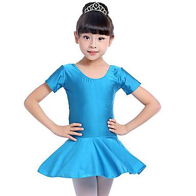 Balet Suknie Dla dziewczynek Szkolenie / Wydajność Spandeks Marszcząca się Krótki rękaw Naturalny Ubierać