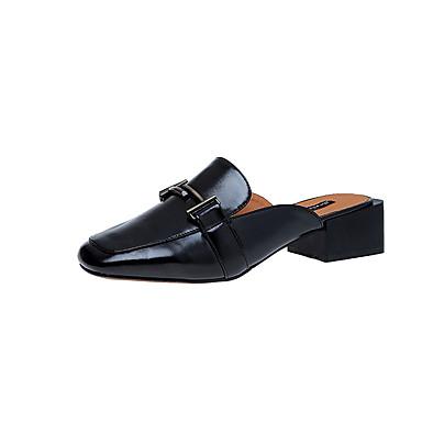 للمرأة أحذية فرو ظبي ربيع مريح كعوب كعب متوسط حذاء براس مدبب بريق مميز / مشبك أسود / البيج / بني فاتح