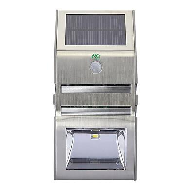 YWXLIGHT® 1 szt. 3 W Światło ścienne Na energię słoneczną / Kontrola światła Ciepła biel / Zimna biel 3.7 V Oświetlenie zwenętrzne 2 Koraliki LED