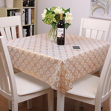 Nowoczesny Polichlorek winylu Kwadrat Obrus Kwiaty / Drukowanie Dekoracje stołowe 1 pcs