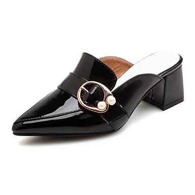 A Noir Talons à Printemps Bride Boucle 06641680 pointu Chaussures Automne Polyuréthane Confort Talon Bottier Femme Arrière Chaussures Bout qgaxgX