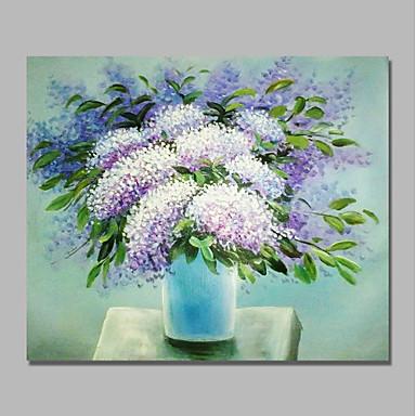 Hang-pictate pictură în ulei Pictat manual - Abstract / Floral / Botanic Contemporan / Modern pânză