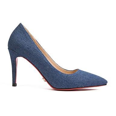 Aiguille Noir Talons 06674065 Confort Bout Soirée Evénement Tissu été Bleu Printemps Chaussures à Chaussures Femme Automne pointu Talon amp; qwv1B8np
