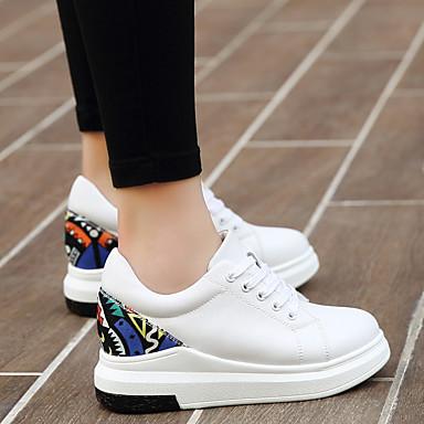 Cuir Creepers Automne Confort Chaussures Blanc 06665685 Noir Basket Femme 5CqwSx7X