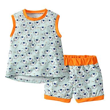 Bebelus Unisex Activ / De Bază Școală Bloc Culoare / Peteci Peteci Fără manșon Bumbac Set Îmbrăcăminte / Copil