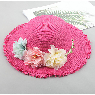 ccb8e6fb8e7 Infant Girls  Active Daily Solid Colored   Floral   Floral   Botanical Hats    Caps Beige   Fuchsia   Khaki One-Size