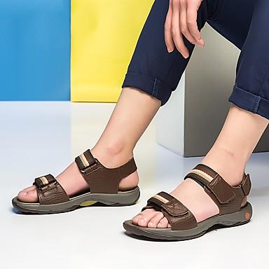 les sandales de cuir noir tricoté / / / brun / confort d'été e54baf