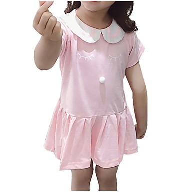 Dzieci Dla dziewczynek Aktywny Jendolity kolor Krótki rękaw Sukienka