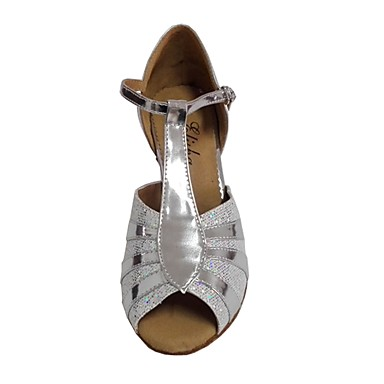 Femme Femme Femme Chaussures Latines Cuir Verni Talon Talon