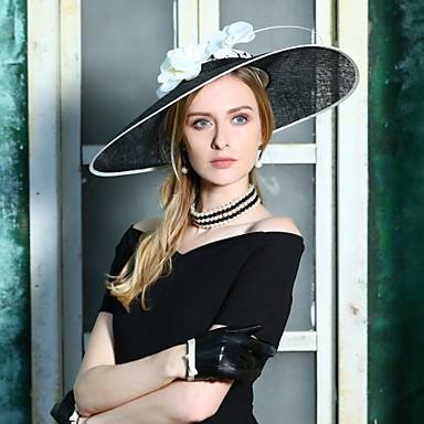 abordables Coiffes-Lin Kentucky Derby Hat / Chapeaux avec Fleur 1pc Occasion spéciale / Fête / Soirée Casque