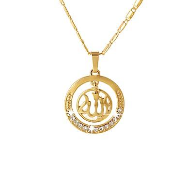 abordables Collier-Collier Pendentif Foi dames Ethnique Dorée Argent Or Rose 55 cm Colliers Tendance Bijoux pour Cadeau Quotidien Forme de Cercle