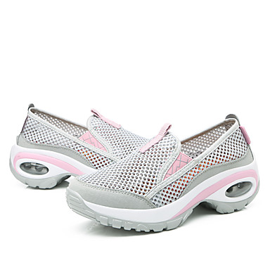 été d'Athlétisme Printemps Confort cross training Plat Talon foncé Rose Femme Chaussures Chaussures Gris Tulle et Violet 06714758 Fitness fYqttH