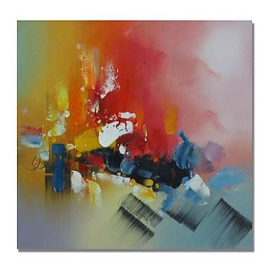 Hang-Malowane obraz olejny Ręcznie malowane - Streszczenie Comtemporary / Nowoczesny Brezentowy