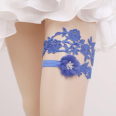 Dantelă Stil Vintage Nunta Garter Cu Piatră Semiprețioasă / Floral / Găuri Jartiere Nuntă / Party & Seară