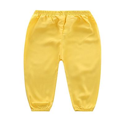 Bambino Unisex Essenziale Tinta Unita Poliestere Pantaloni Blu - Bambino (1-4 Anni) #06700689 Stile (In) Alla Moda;