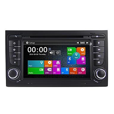 voordelige Automatisch Electronica-Factory OEM 7 inch(es) 2Din Windows CE 6.0 Ingebouwde Bluetooth / GPS / RDS voor Audi Ondersteuning / Aanraakscherm / DVD-R / RW / VCD