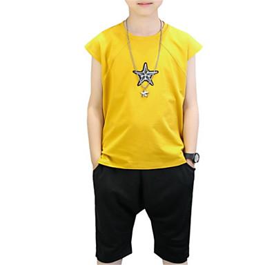 Copii Băieți De Bază Mată Fără manșon Set Îmbrăcăminte