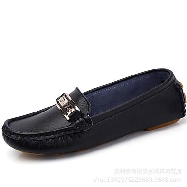 Rouge Bleu Chaussures Plat 06714663 Chaussons D6148 Mocassins Boucle rond été Talon Rose Printemps Bout et Femme Cuir Confort SZ6qx1qg