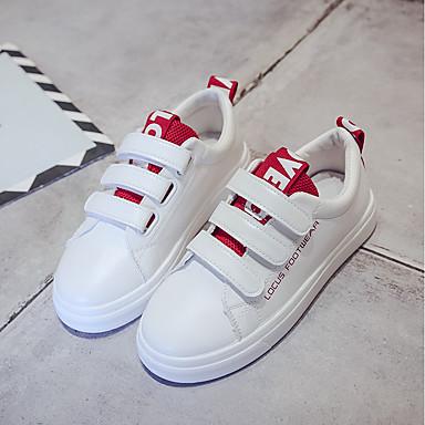 Azul Zapatillas Primavera Rojo Plano PU Confort Mujer 06710368 Negro Zapatos de deporte Tacón xPSIPw4q