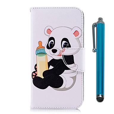Maska Pentru Nokia Nokia 5 / Nokia 3 Portofel / Titluar Card / Cu Stand Carcasă Telefon Panda Greu PU piele pentru Nokia 5 / Nokia 3 /