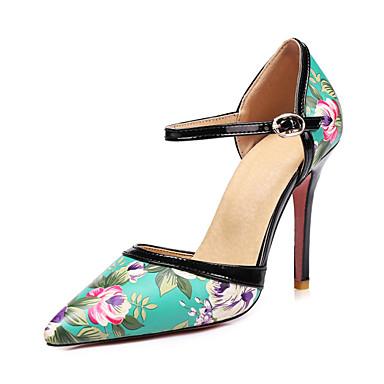 Pentru femei Pantofi Imitație Piele / Piele Originală Primavara vara Balerini Basic Tocuri Plimbare Toc Stilat Vârf ascuțit Negru / Bej /