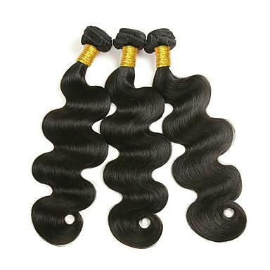 baratos Extensões de Cabelo Natural-3 pacotes Cabelo Malaio Ondulado 8A Cabelo Humano Cabelo Humano Ondulado Extensões de Cabelo Natural Côr Natural Tramas de cabelo humano extensão Venda imperdível Extensões de cabelo humano Todos