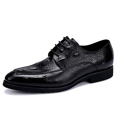 Męskie Komfortowe buty Skóra Wiosna Oksfordki Czarny / Brązowy / Burgundowy