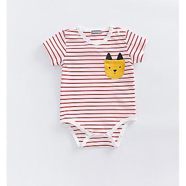 Bebelus Unisex De Bază Dungi Mânecă scurtă O - piesă