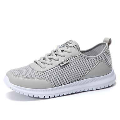 Bărbați Pantofi de confort Tul Vară Adidași de Atletism Alergare Negru / Gri / De Atletism